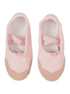 Wenchoice Little Girls Pink Elastic Strap Stylish Ballet Shoes 6-10.5 Toddler