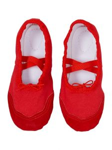 Wenchoice Little Girls Red Elastic Strap Stylish Ballet Shoes 6-10.5 Toddler
