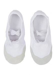 Wenchoice Little Girls White Elastic Strap Stylish Ballet Shoes 6-10.5 Toddler