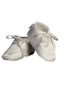 Lito Boys White Satin Lace-Up Soft Sole Bootie Shoes 00 Baby-6 Toddler
