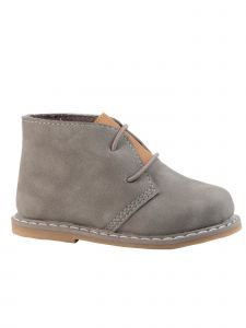 Baby Deer Unisex Gray Tan Tongue Nubuck PU Chukka Ankle Boots 2-4 Baby