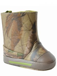 Baby Deer Unisex Green Brown TPU-Covered Realtree Camo Boots 0-3 Baby