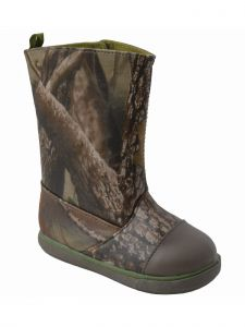 Baby Deer Unisex Green Brown TPU-Covered Realtree Trendy Camo Boots 2-4 Baby