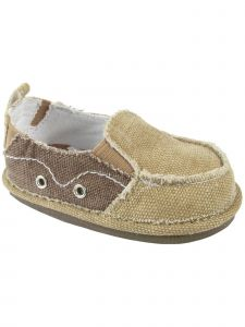Baby Deer Little Boys Tan Brown Canvas Slip-on Side Gore Shoes 5-10 Toddler