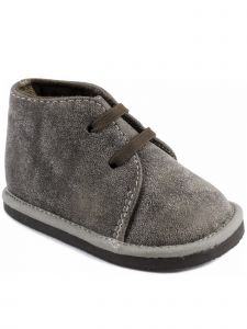 Baby Deer Boys Taupe Crackle PU First Steps Casual Desert Boots 2-4 Baby
