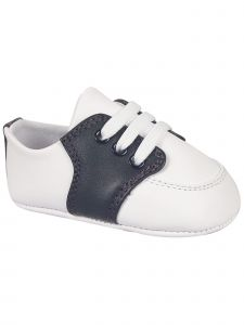Baby Deer Boys White Color Accent Soft Sole Leather Saddle Oxford Shoes 0-3 Baby