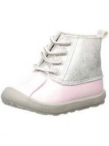 Baby Deer Little Girls Pink Silver Shimmer PU Duck Boots 5 Toddler-12 Kids