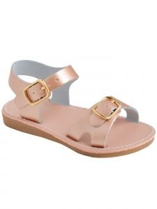 Baby Deer Girls Multi Color Leather Double Strap Sandals 2 Baby-12 Kids