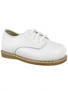 Baby Deer Little Girls White Leather Lace-Up Oxford Shoes 5-10 Toddler