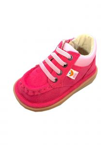 Mooshu Trainers Girls Hot Pink Faux Suede Bailey Casual Squeaky Shoes 3-4 Baby