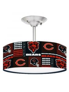 Black Chicago Bears Football 13 Inches Ceiling Mount Light Fixture
