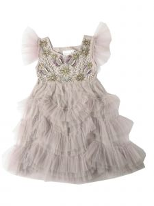 Ooh! La, La! Couture Baby Girls Violet Butterfly Flower Girl Dress 12-24M