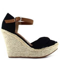 Ceresnia Adult Black Ankle Strap Closure Wedge Trendy Sandals 6-10 Womens