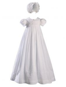 Baby Girls White Handmade Bonnet Christening Dress Outfit 0-12M