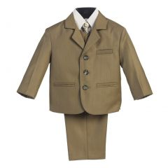 Lito Little Boys Olive Wedding Easter 5 Pcs Special Occasion Suit 2-7
