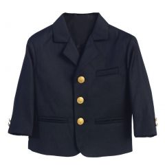 Lito Little Boys Navy Golden Buttons Special Occasion Blazer 2-7