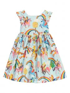 Kids Dream Little Girls Baby Blue Rainbow Unicorn Easter Dress 6