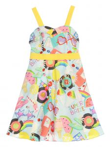 Kids Dream Little Girls Yellow Baby Blue Summer Breeze Pin Up Easter Dress 2-6