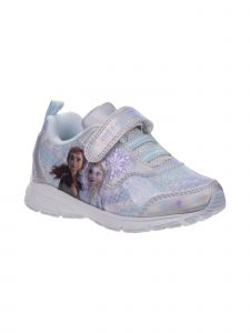 Disney Little Girls Silver Blue Frozen 2 Elsa And Ana Sneakers 6-10 Toddler
