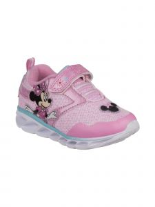 Disney Girls Light Pink Minnie Mouse Sneakers 5 Toddler-11 Kids