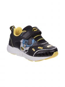 DC Boys Black Yellow Batman Lightweight Sneakers 11-12 Kids