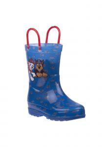 Nickelodeon Little Boys Blue Red Handles Paw Patrol Rain Boots 8-10 Toddler
