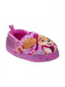 Nickelodeon Girls Pink Paw Patrol Plush Slippers 12-1 Kids