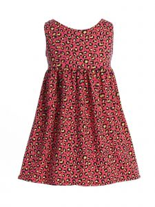 Story Kids Little Girls Hot Pink Contrast Spot Print Sleeveless Dress 2-6