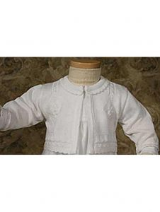 Little Things Mean A Lot Baby Girls White Special Occasion Acrylic Sweater 18M