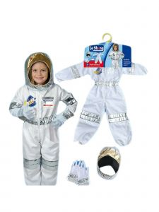 Wenchoice Unisex Kids White Astronaut Halloween Jacket Hat Costume 3-8