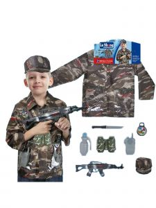 Wenchoice Little Boys Camo Military Forces Halloween Costume 3-8