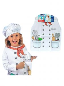 Wenchoice Unisex Kids White Chef Halloween Vest Hat Costume 3-8