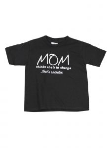 Unisex Little Kids Black White Mom Inspired Message Print T-Shirt 2T-5