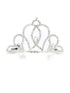 Cinderella Couture Girls Silver Rhinestone Flower Girl Wedding Pageant Tiara