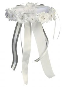 Angels Garment Girls White Crystal Flower Special Occasion Hair Wreath Crown