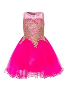 Cinderella Couture Big Girls Fuchsia Coiled Lace Soft Tulle Christmas Dress 8-20