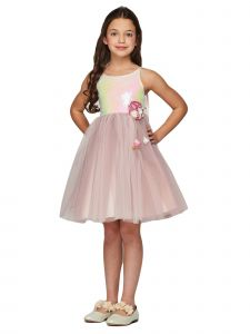 Cinderella Couture Big Girls Pink Sequin Tulle Junior Bridesmaid Dress 8-12