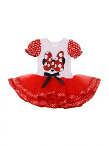 Cinderella Couture Little Girls White Red Dot Minnie Mouse Tutu Dress 2T-6