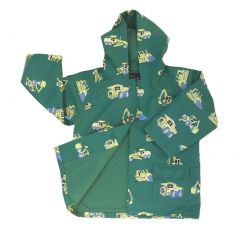 Baby Boys Green Construction Rain Coat 1T