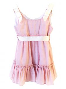 Coquelicot Little Girls Pink Contrasting Ribbon Fiji Batista Filcoupe Dress 2T-6