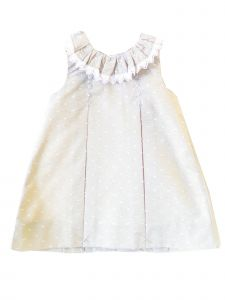Coquelicot Girls Beige Spanish Lace Trim Ios Shirt Plumi Dress 6M-2T