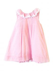 Coquelicot Girls Pink Spanish Lace Trim Ios Yuca Sugar Dress 3M-2T