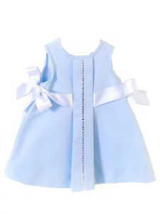 Coquelicot Girls Blue Spanish Lace Trim Milos Pique Celeste Dress 6M-2T