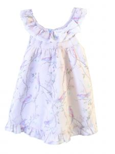 Coquelicot Girls Pink White Trim St Barths Linen Powerty Rosa Dress 3M-2T