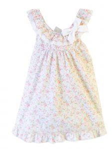 Coquelicot Girls Multi Ivory Floral St Barths Poppy Dahlia Dress 3M-2T
