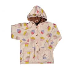 Baby Girls Pink Cupcakes Galore Rain Coat 1T
