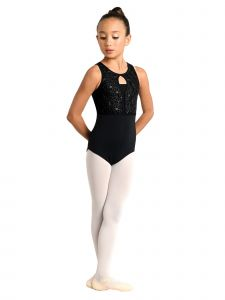 Danshuz Big Girls Embroidered Mesh Overlay Tank Dance Leotard 6X-14