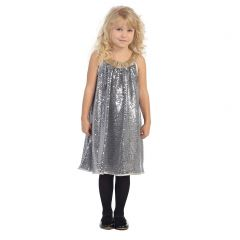Angels Garment Big Girls Silver Gold Sequence Tent Party Dress 7-12
