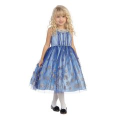 Angels Garment Big Girls Royal Blue Snowflake Crystal Christmas Dress 7-12