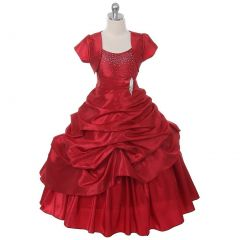 Chic Baby Red Layered Bolero Pageant Dress Set Girl 4-16